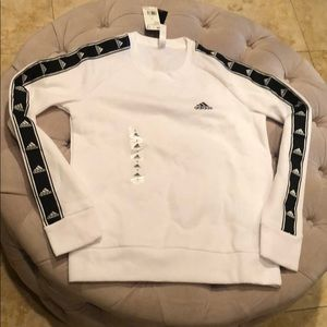 Adidas Black and White Sweater Size Small